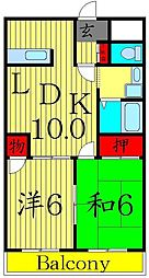 小川ハイデンス[2階]の間取り