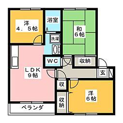 NEXTON西岡崎 C[2階]の間取り