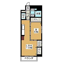 エルザ センティア筒井[4階]の間取り