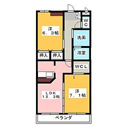 シャントゥール尾崎山[2階]の間取り