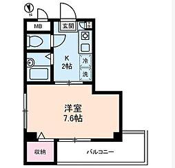 東京都品川区戸越2丁目の賃貸マンションの間取り