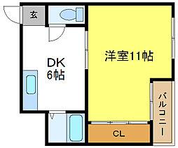 ルエーテ20[4階]の間取り