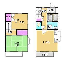 [テラスハウス] 神奈川県藤沢市下土棚 の賃貸【/】の間取り