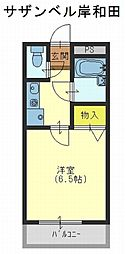サザンベル岸和田[4階]の間取り