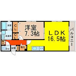 愛知県名古屋市中村区井深町の賃貸マンションの間取り