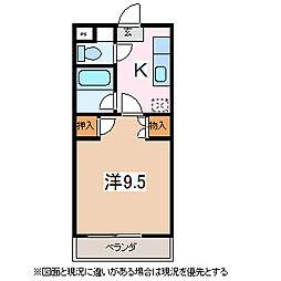 長野県松本市高宮中の賃貸マンションの間取り