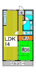 浦和草芳館[1階]の間取り