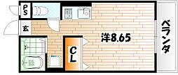 メゾン東武三萩野[8階]の間取り