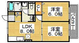 セジュール中百舌鳥[1階]の間取り