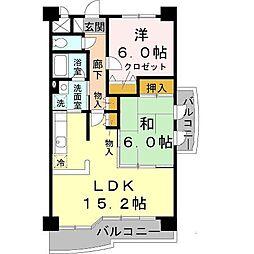 兵庫県神戸市垂水区下畑町の賃貸マンションの間取り
