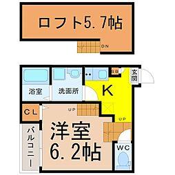 クオーレ名古屋[1階]の間取り
