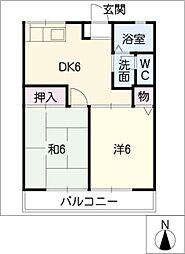 シャトレA・B[2階]の間取り