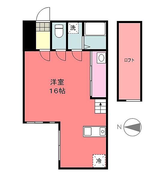アコテパリジェンヌ[4階]の間取り