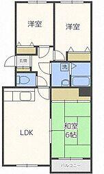 シャトー32[4階]の間取り