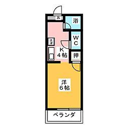 ブライト赤坪[1階]の間取り