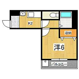 メゾン・ド・カヤモリ[205号室]の間取り