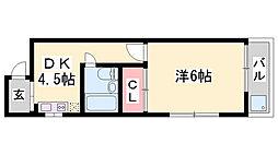フレンドマンション[4階]の間取り