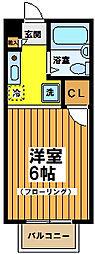 東京都世田谷区桜上水5丁目の賃貸アパートの間取り
