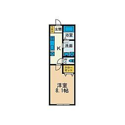 ラ・ポルトM[2階]の間取り