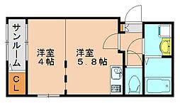 フェリーチェ3[2階]の間取り