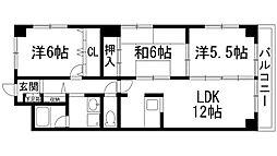 兵庫県西宮市門戸西町の賃貸マンションの間取り