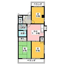 第2宮崎ビル[4階]の間取り