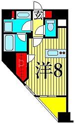 東京メトロ日比谷線 入谷駅 徒歩5分の賃貸マンション 5階ワンルームの間取り