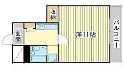 飾磨中村コーポ[B-10号室]の間取り