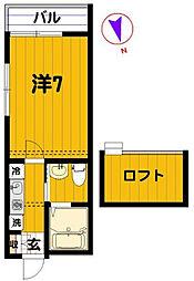 サンサーラ泉壱番館[2階]の間取り