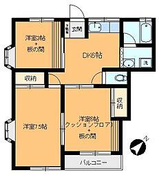栄ハウス[A-102号室]の間取り
