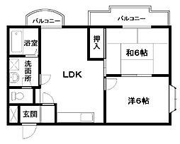 ABCライフ東岸和田[501号室]の間取り