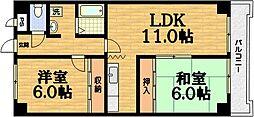ラ・ヨード21[3階]の間取り