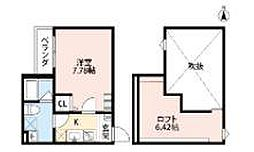 ケイティハイツ4[2階]の間取り
