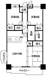レジデンス マサノ 2[7階]の間取り