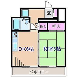 神奈川県横浜市神奈川区入江2丁目の賃貸マンションの間取り