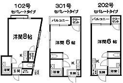 スターブライトマンション2階Fの間取り画像