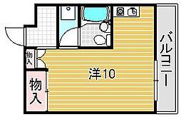 大阪府吹田市末広町の賃貸マンションの間取り