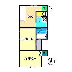 武田マンション[1階]の間取り