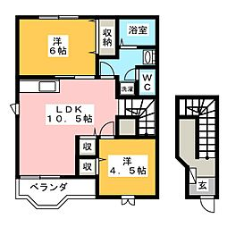 ダンディライオン B[2階]の間取り