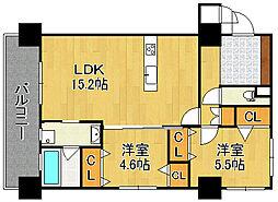 KSK門司コアプレイス[7階]の間取り