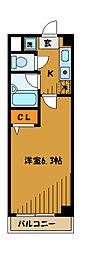 東京都国分寺市東元町3丁目の賃貸マンションの間取り