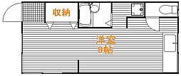 東京都北区上十条2丁目の賃貸アパートの間取り