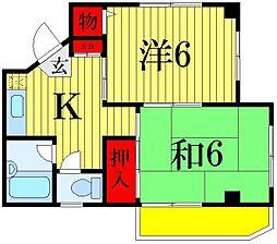 秋山コーポ[3階]の間取り