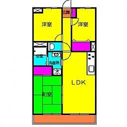 パークサイドマンション[303号室号室]の間取り