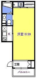 ファーストムーン[102号室号室]の間取り
