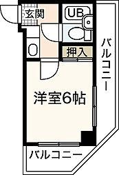 メゾン南竹屋[3階]の間取り