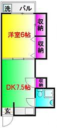 東京セントラル荻窪[4階]の間取り