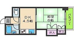 グレイスフル中崎[5階]の間取り