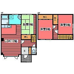 [テラスハウス] 北海道札幌市豊平区福住三条8丁目 の賃貸【/】の間取り