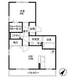 カシータ3[103号室号室]の間取り
